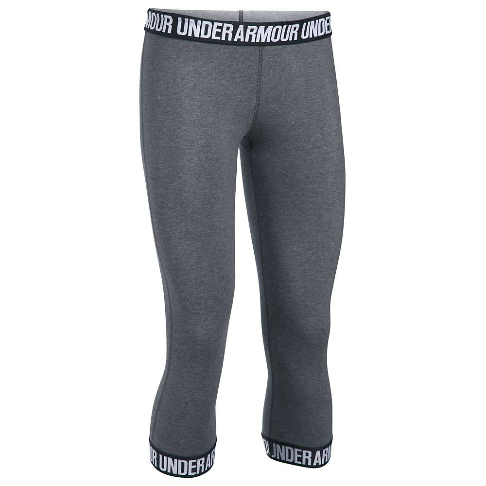 Under Armour Women's UA Favorite Capri - XXL - Carbon Heather / Black / Metallic Silver