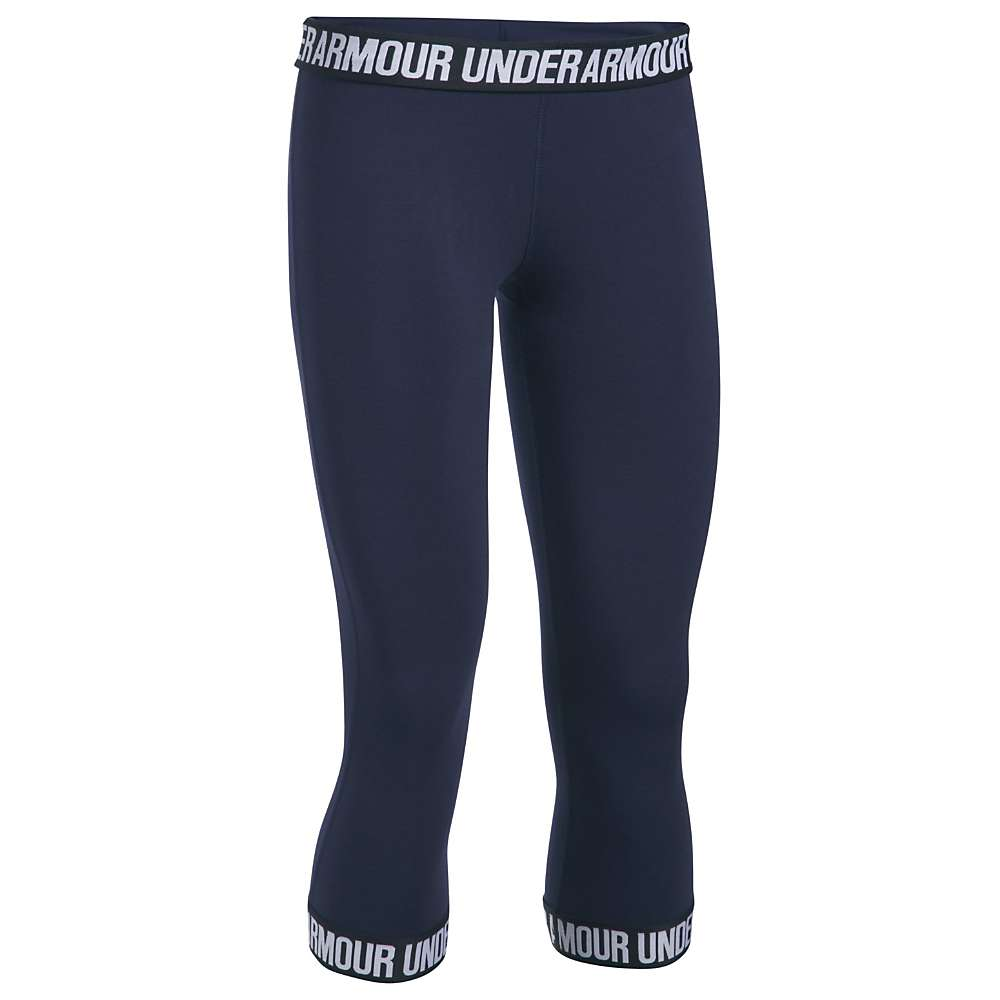 Under Armour Women's UA Favorite Capri - XS - Midnight Navy / Black / Metallic Silver