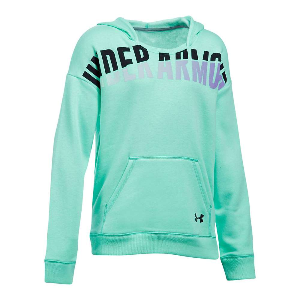 Under Armour Girl's Favorite Fleece Hoody - Small - Crystal / Black