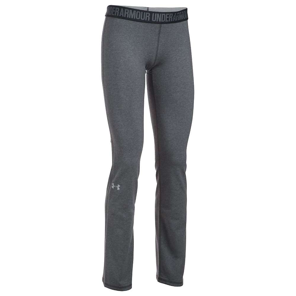 Under Armour Women's UA Favorite Pant - XS - Carbon Heather / Black / Metallic Silver