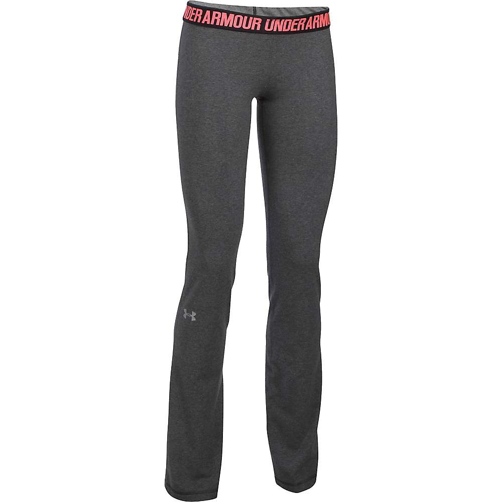 Under Armour Women's UA Favorite Pant - Medium - Carbon Heather / White / Metallic Silver