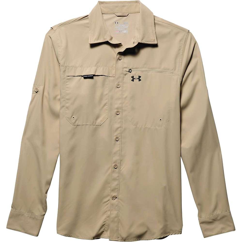Under Armour Men's Fish Stalker LS Shirt - Large - Enamel / Black
