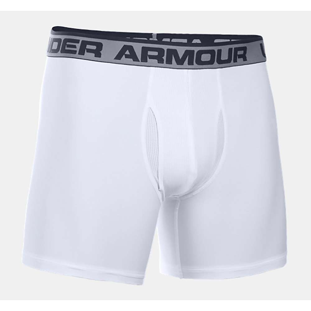 Under Armour Men's Original Series 6 Inch Boxerjock - Small - White / Black
