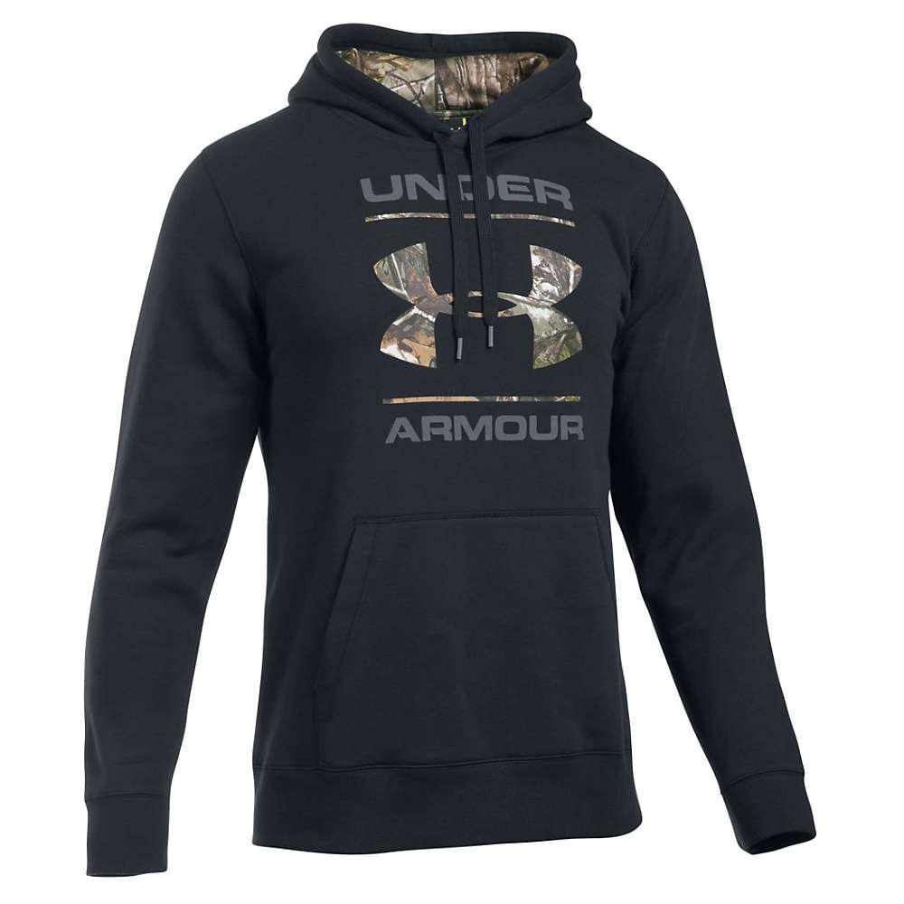 Under Armour Men's Rival Camo Fill Logo Hoodie - XXL - Black / Realtree Ap-Xtra