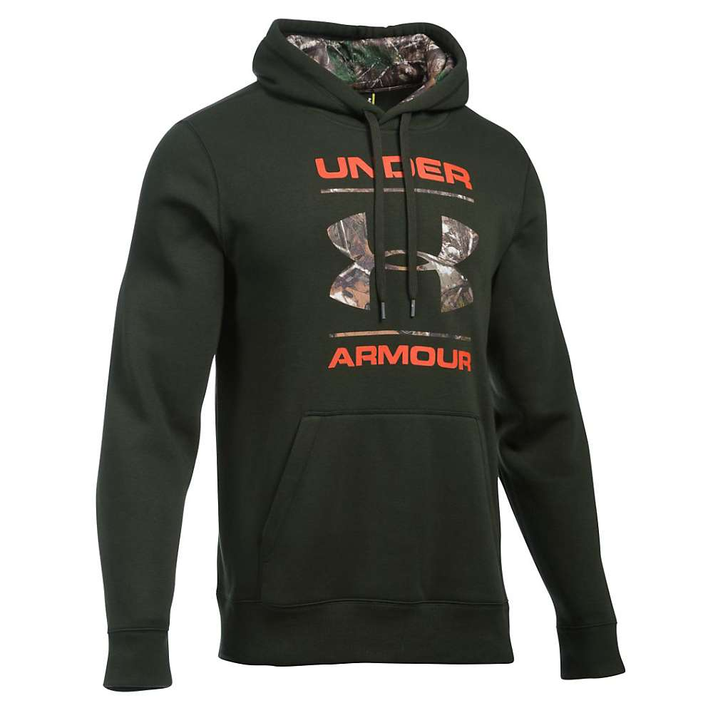 Under Armour Men's Rival Camo Fill Logo Hoodie - XXL - Artillery Green / Realtree Ap-Xtra