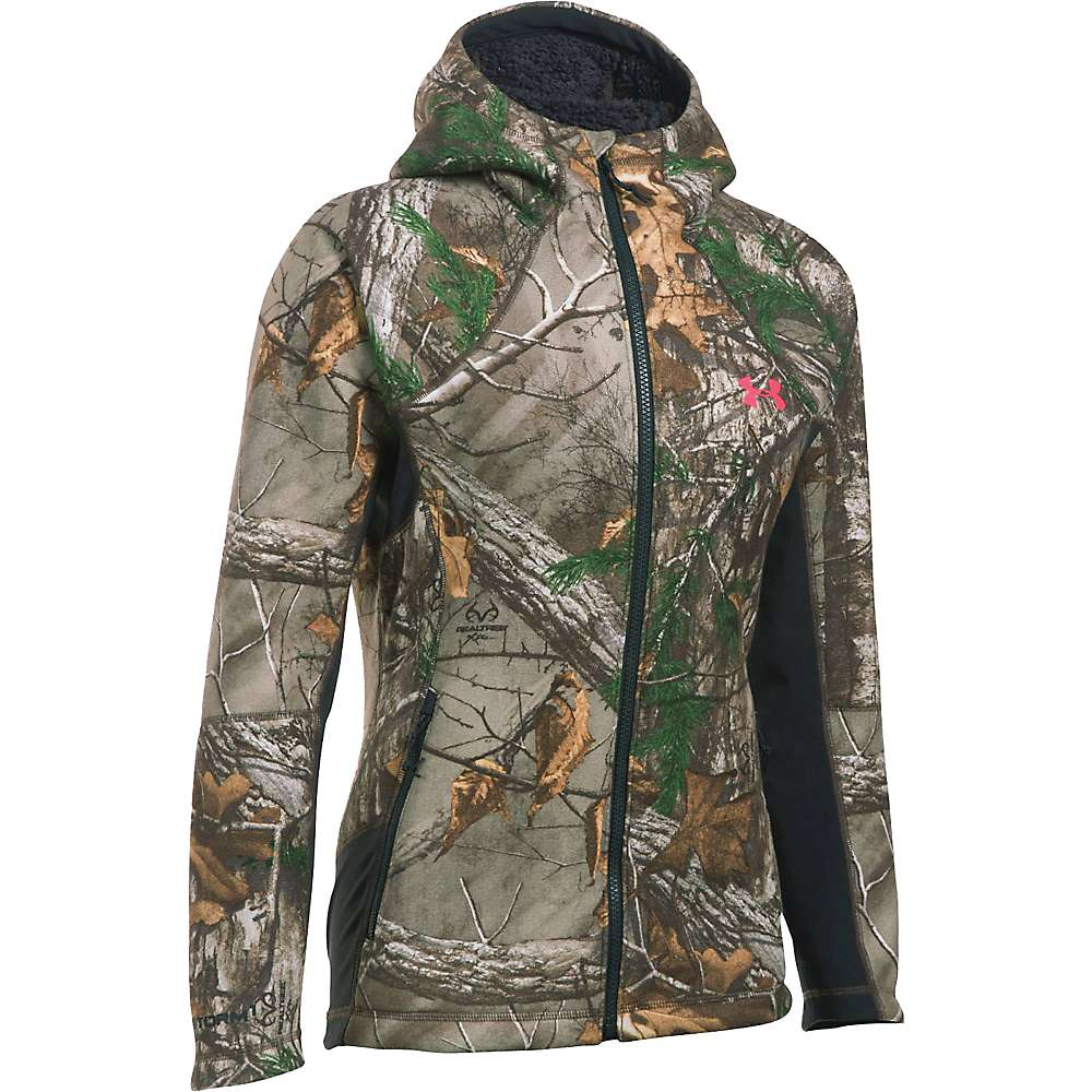 Under Armour Women's Stealth Hoodie - XXL - Realtree Ap-Xtra / Pink Chroma