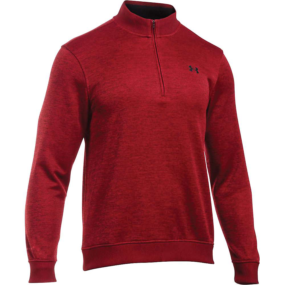 Under Armour Men's UA Storm SweaterFleece 1/4 Zip Top - XL - Rapture Red / Rapture Red / Black