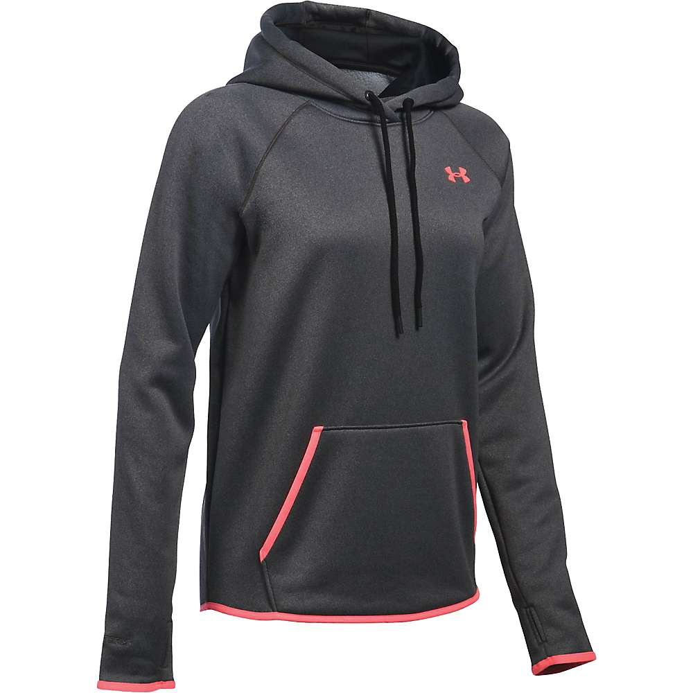 Under Armour Women's UA Storm Armour Fleece Icon Hoodie - XS - Carbon Heather / Brilliance