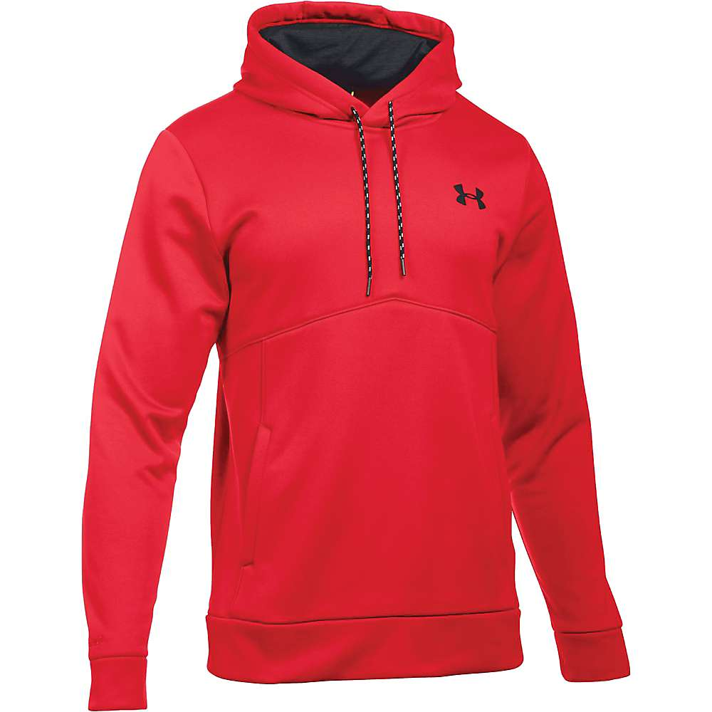 Under Armour Men's UA Storm Armour Fleece Icon Hoodie - Large Tall - Red / Black