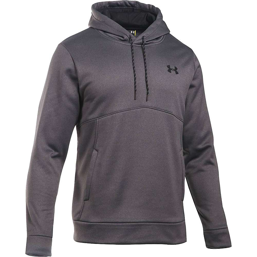 Under Armour Men's UA Storm Armour Fleece Icon Hoodie - Small - Carbon Heather / Black / Black