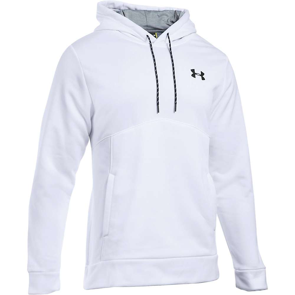 Under Armour Men's UA Storm Armour Fleece Icon Hoodie - 3XL Tall - White / Steel / Black