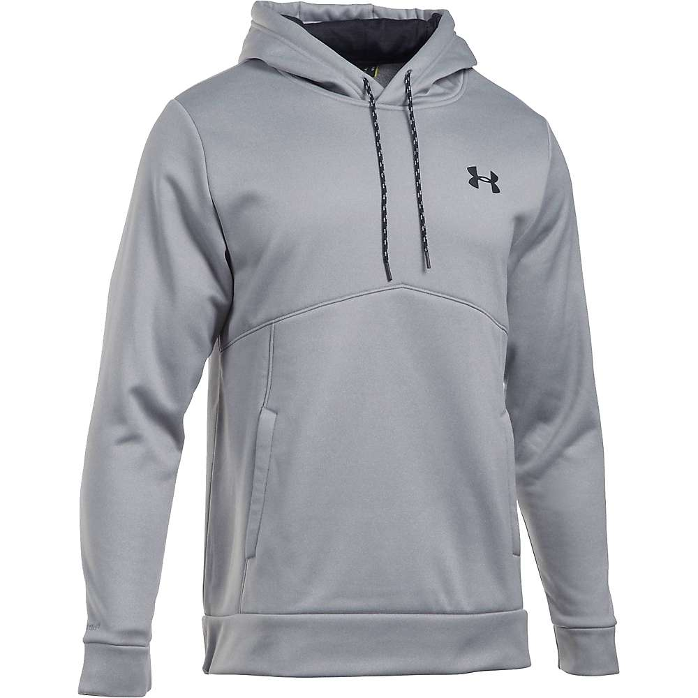 Under Armour Men's UA Storm Armour Fleece Icon Hoodie - XXL - True Grey Heather / Graphite / Black