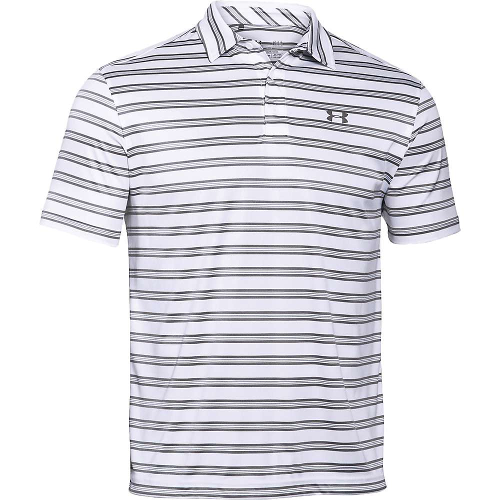 Under Armour Men's Tech Stripe Polo - Small - White / Black