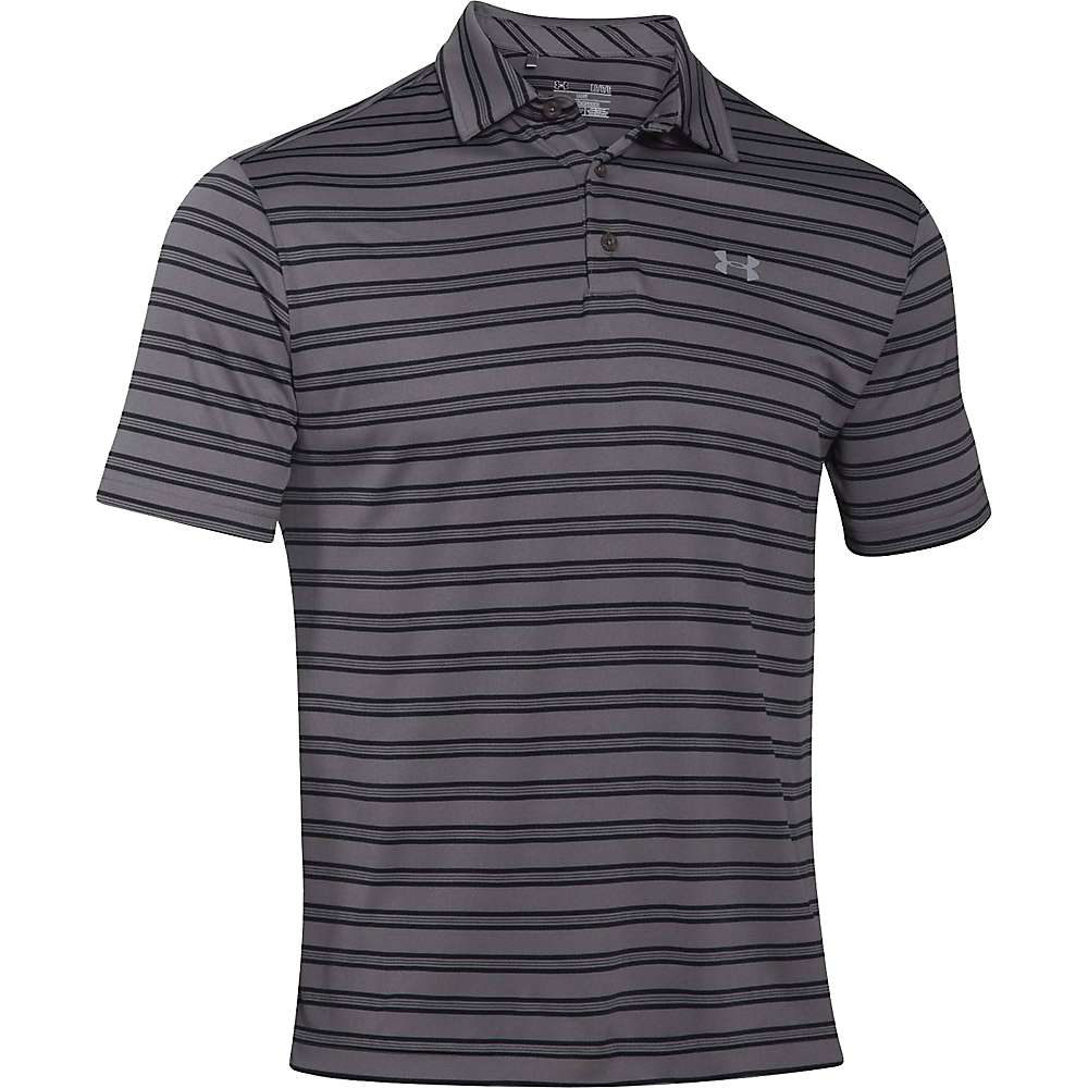 Under Armour Men's Tech Stripe Polo - Large - Graphite / Steel