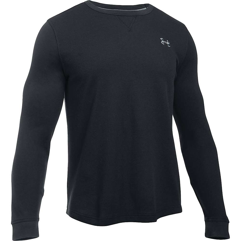 Under Armour Men's Waffle LS Crew - XL - Black / Steel