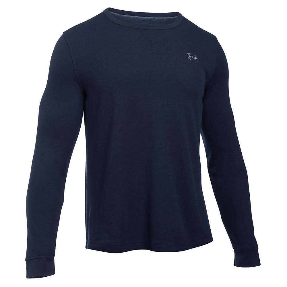 Under Armour Men's Waffle LS Crew - XL - Midnight Navy / Steel