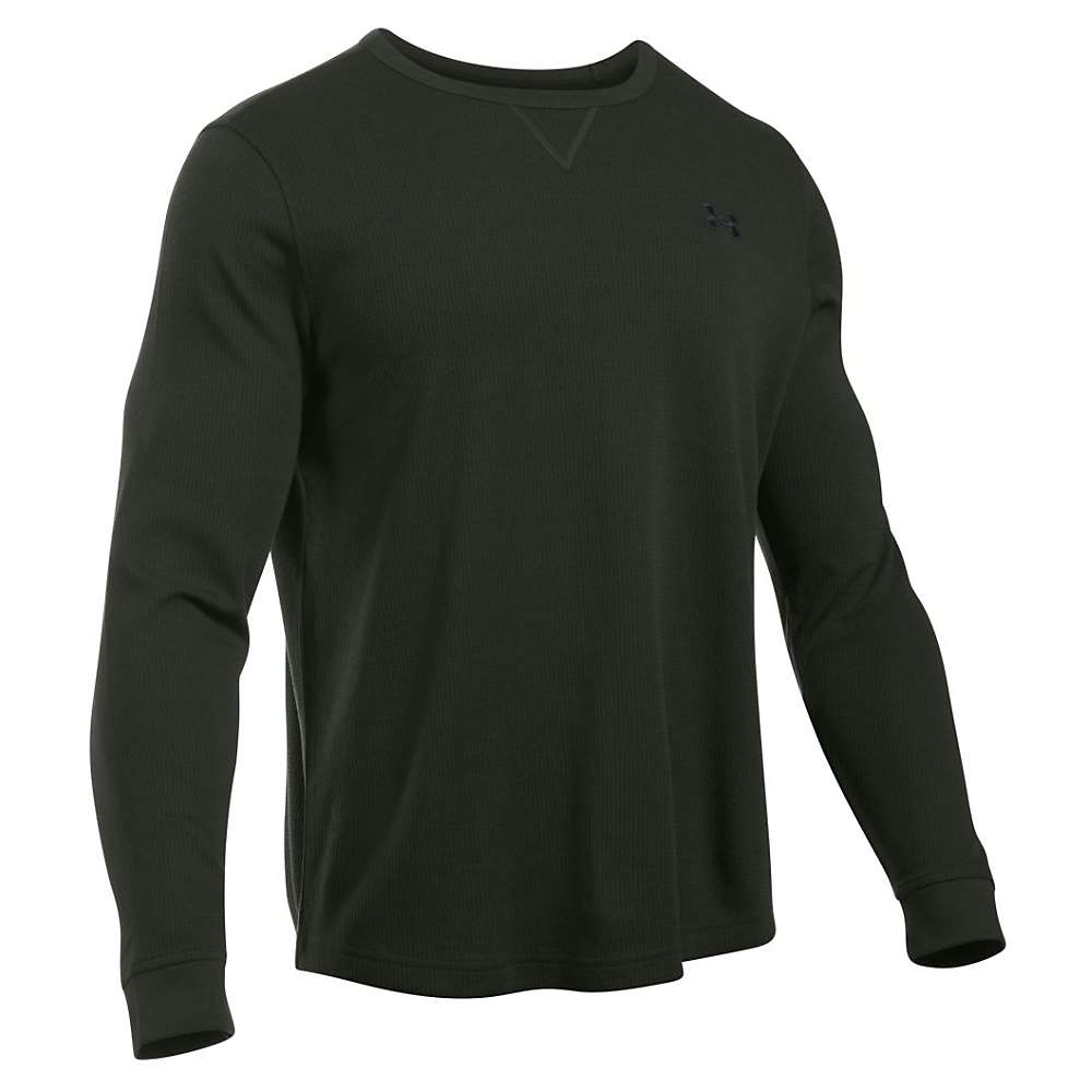 Under Armour Men's Waffle LS Crew - XXL - Artillery Green / Black