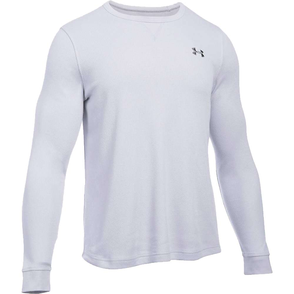 Under Armour Men's Waffle LS Crew - Large - Air Force Grey Heather / Graphite