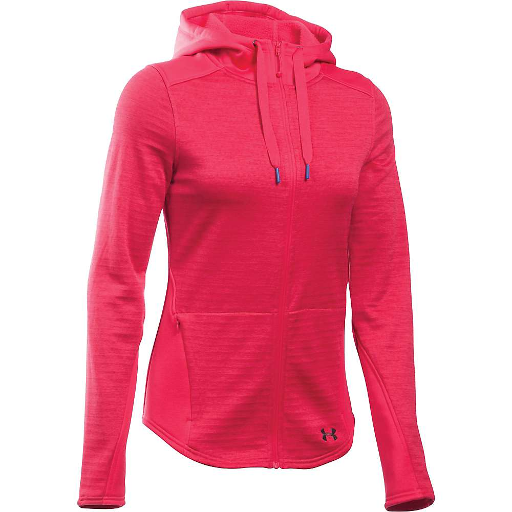 Under Armour Women's Expanse FZ Hoodie - Large - Knock Out / Stealth Grey