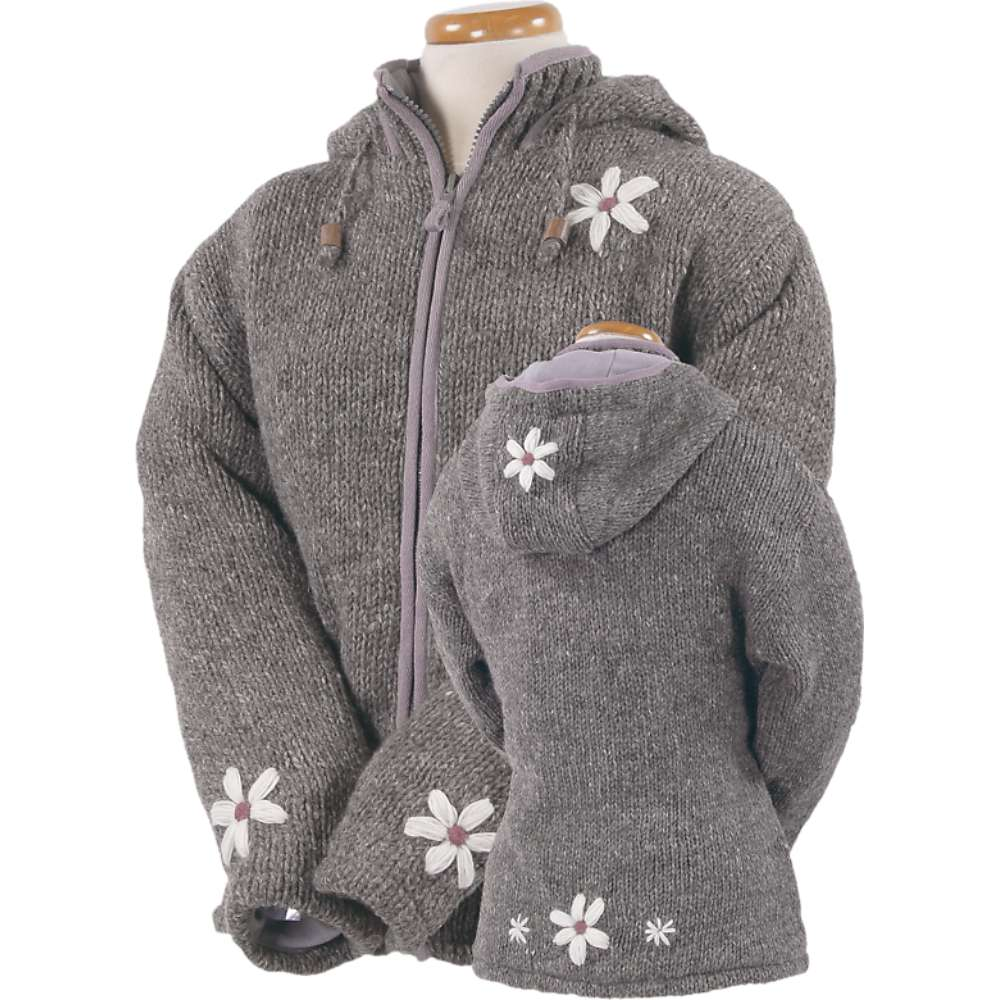 Laundromat Women 's Janis Fleece Lined Sweater - Large - Medium Natural
