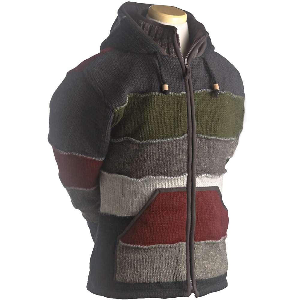 Laundromat Men's Patchwork Fleece Lined Sweater - XXL - Black
