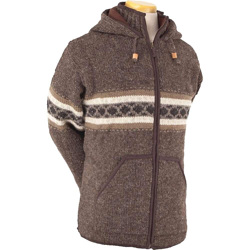 Laundromat Men 's Wayne Fleece Lined Sweater - Large - Dark Natural