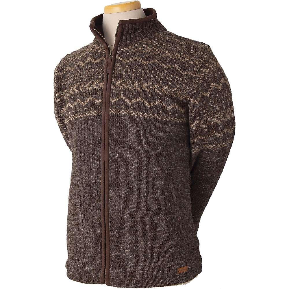 Laundromat Men's Yukon Fleece Lined Sweater - Medium - Dark Natural