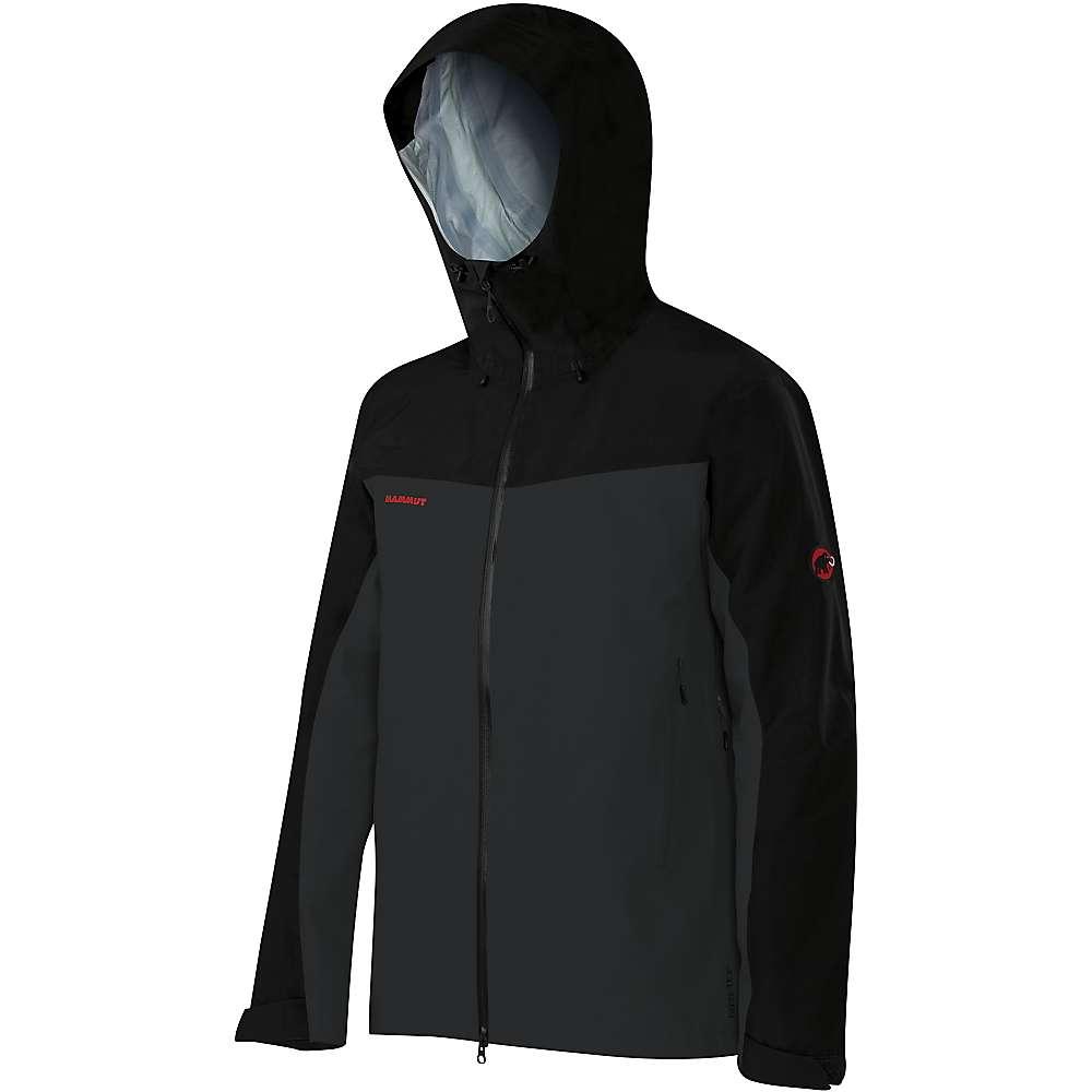 Mammut Men's Crater Hard Shell Hooded Jacket - XL - Graphite / Black
