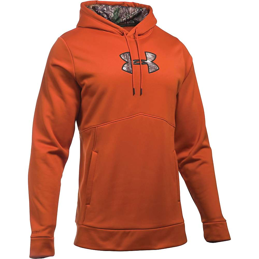 Under Armour Men's Icon Caliber Hoodie - Large - Rodeo Orange / Realtree Ap-Xtra