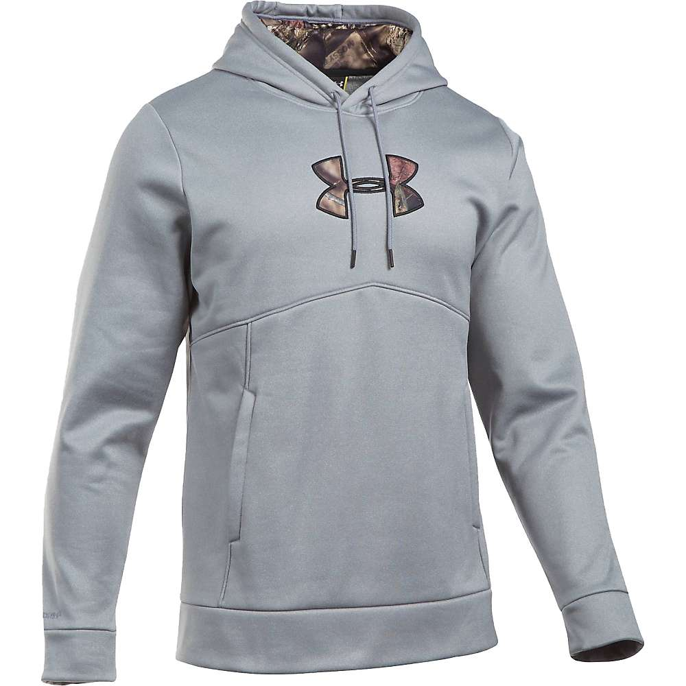 Under Armour Men's Icon Caliber Hoodie - Small - True Grey Heather