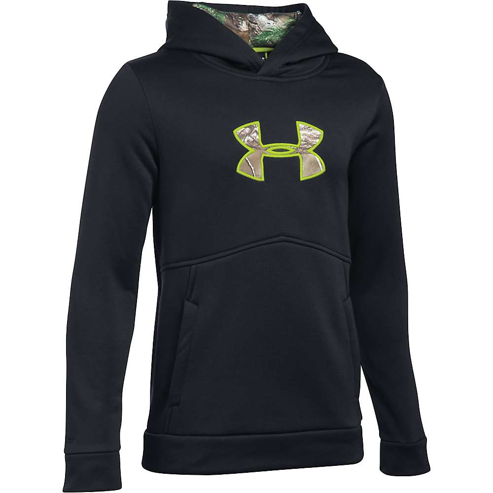 Under Armour Boy's Icon Caliber Hoodie - XS - Black / Realtree Ap-Xtra