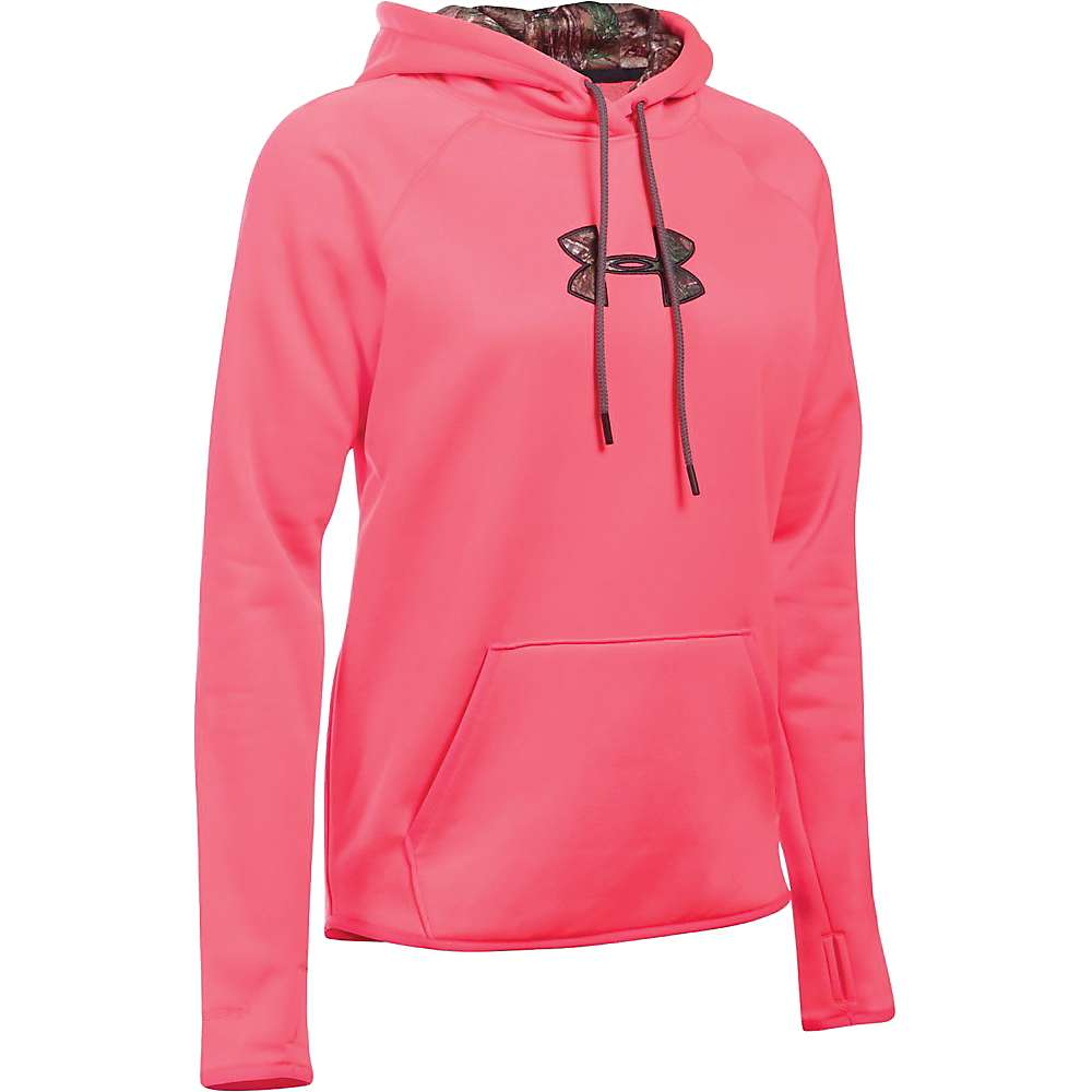 Under Armour Women's Icon Caliber Hoodie - XL - Pink Chroma / Realtree Ap-Xtra