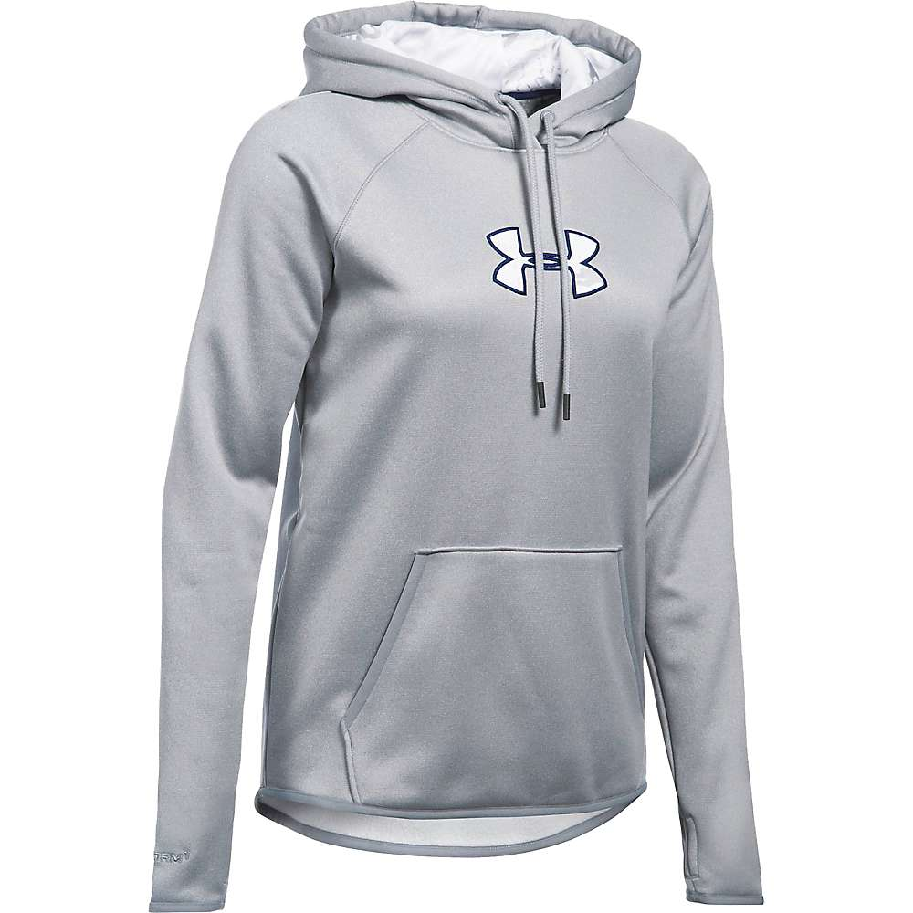 Under Armour Women's Icon Caliber Hoodie - Small - True Grey Heather / Grape Fusion