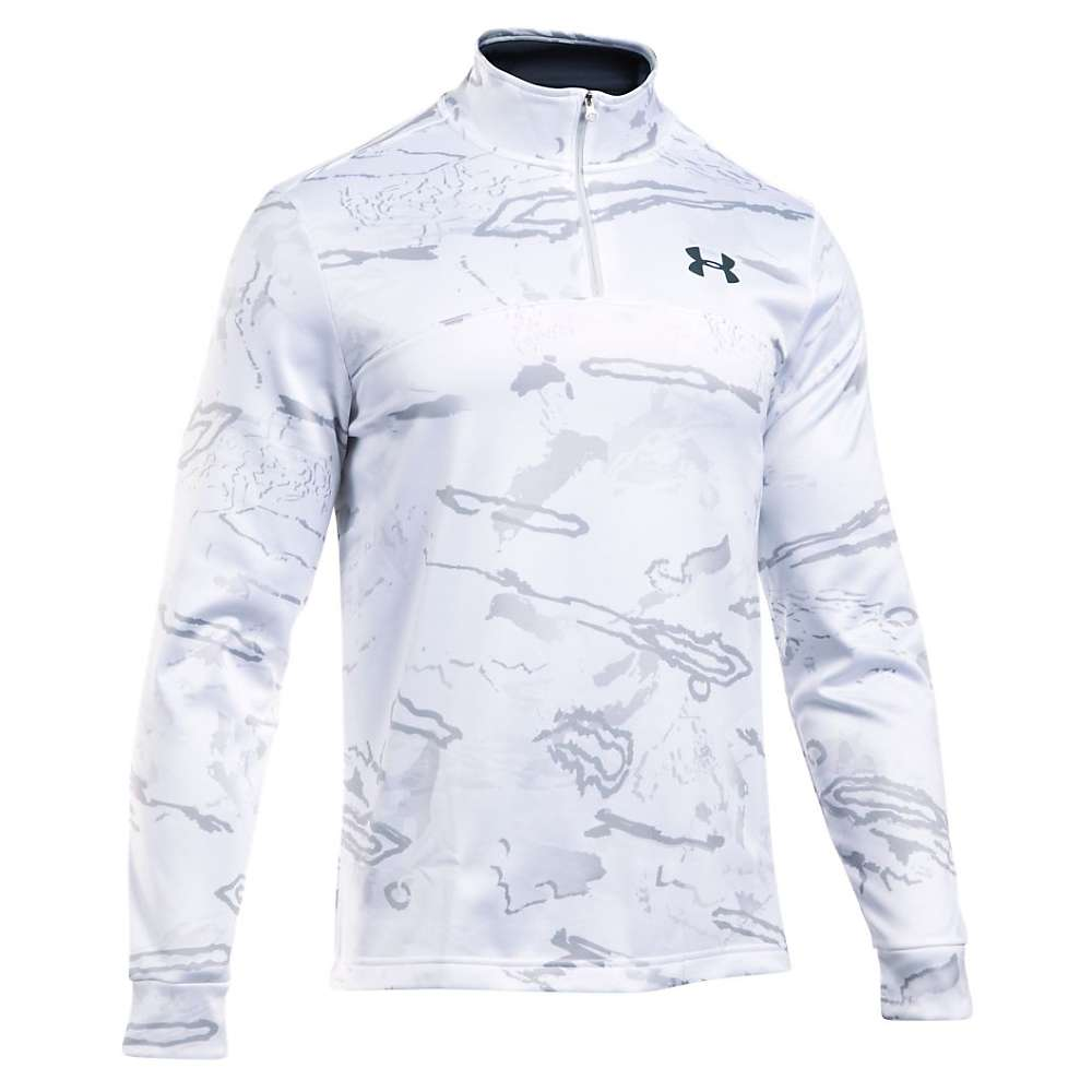 Under Armour Men's Icon Camo 1/4 Zip Top - Large - Ridge Reaper Camo Snow / Stealth Grey