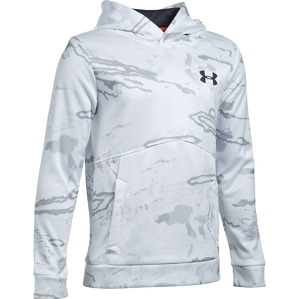 Under Armour Boy's Icon Camo Logo Hoodie - Medium - Ridge Reaper Camo Sn / Stealth Grey