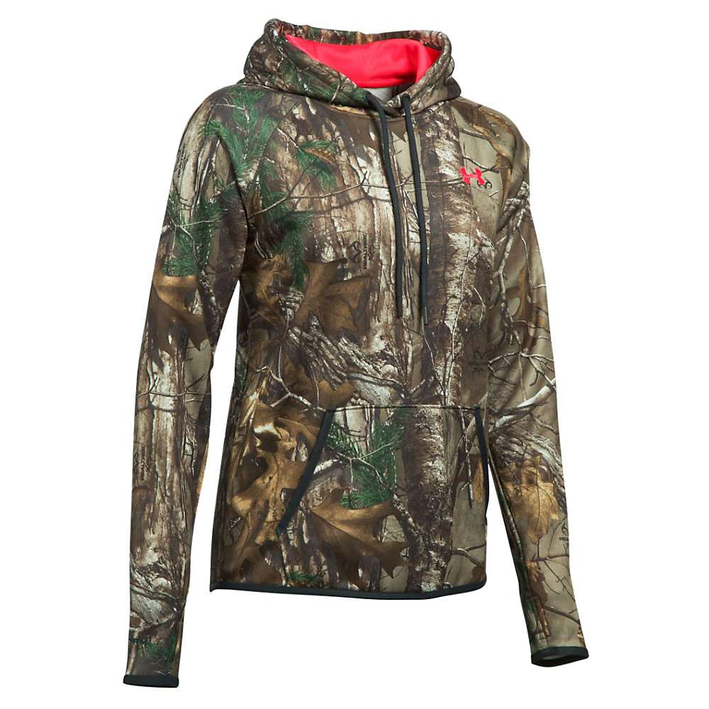 Under Armour Women's Icon Camo Logo Hoodie - Large - Realtree Ap-Xtra / Pink Chroma