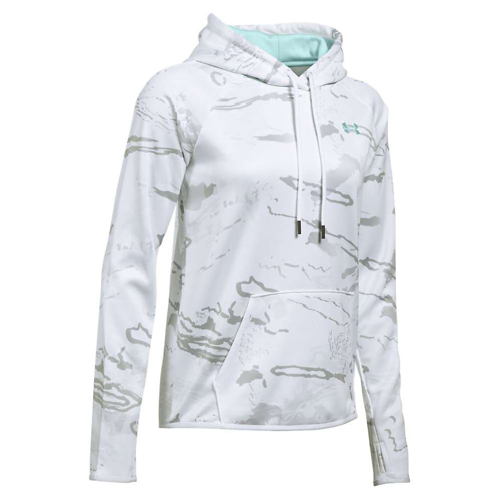 Under Armour Women's Icon Camo Logo Hoodie - XL - Ridge Reaper Camo Sn / Aqua Falls