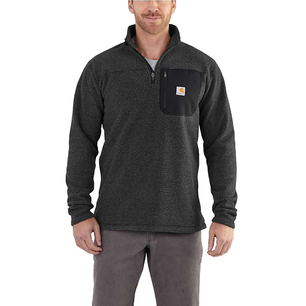 Carhartt Men's Walden Quarter Zip Sweater Fleece - XXL - Carbon Heather