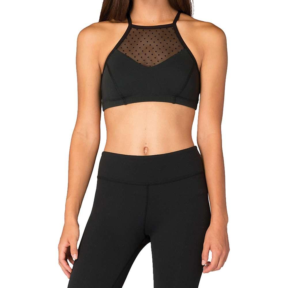 Beyond Yoga Women's Polka Dot Mesh Halter Bra - Small - Black