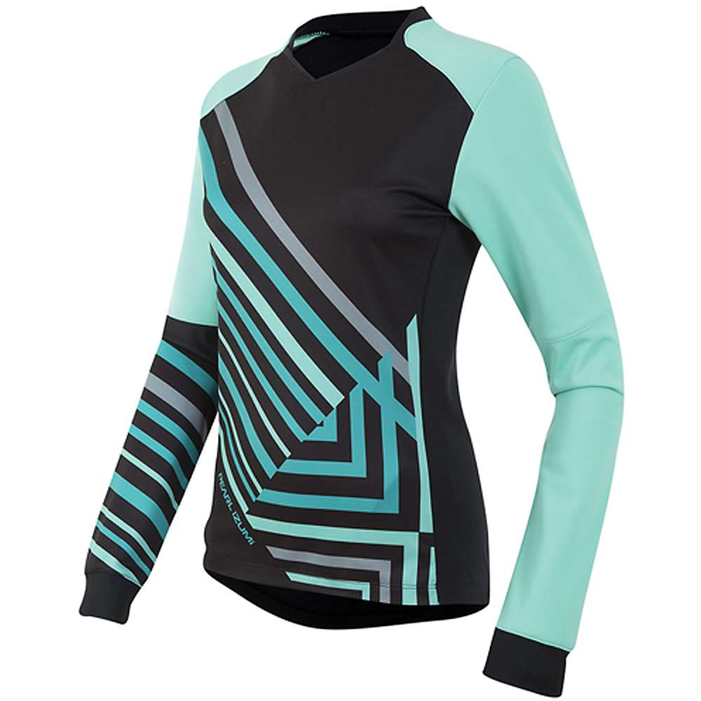Pearl Izumi Women's Launch Thermal Jersey - Large - Black / Aqua Mint