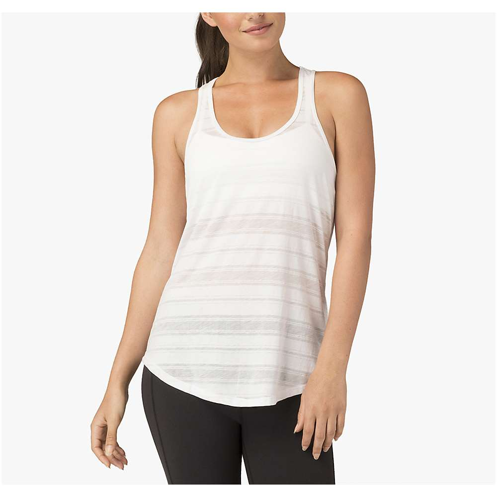 Beyond Yoga Women's Easy Racer Tank - Medium - White Stripe