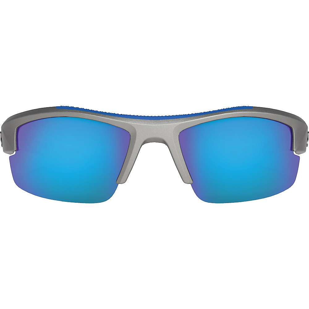 Under Armour UA Kid's Nitro L Polarized Sunglasses - One Size - Satin Carbon / Grey Storm Polarized / Blue Mirror