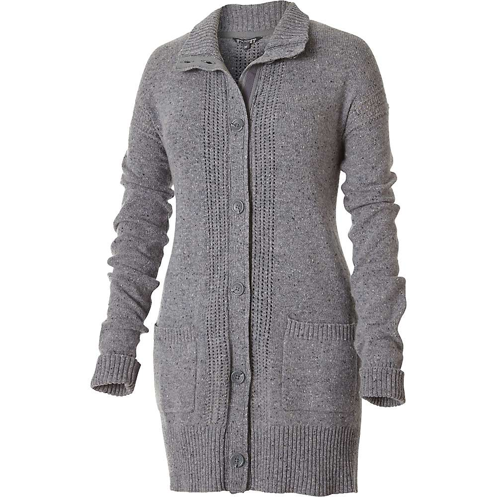 Royal Robbins Women's First Fleet Sweater Coat - XS - Pewter