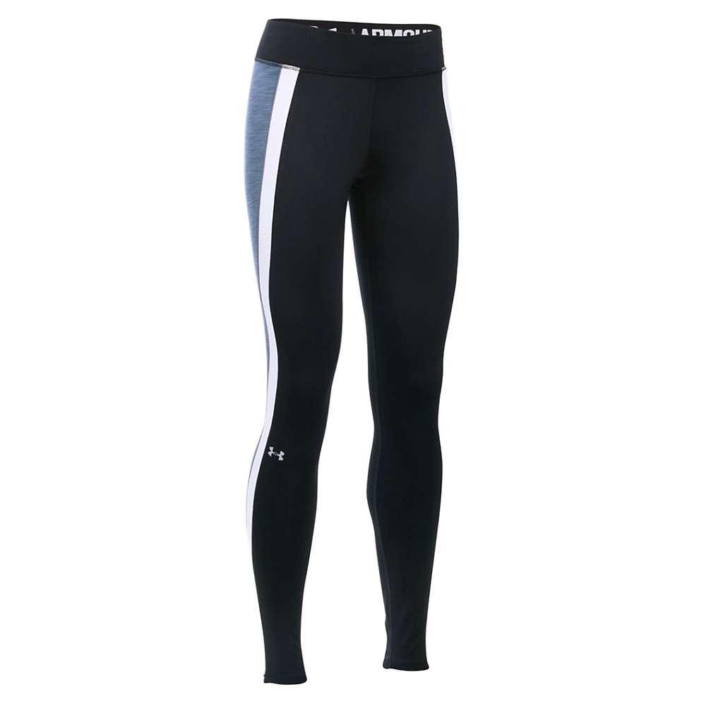 Under Armour Women's UA ColdGear Armour Legging - XS Tall - Black / Aurora Purple / Metallic Silver
