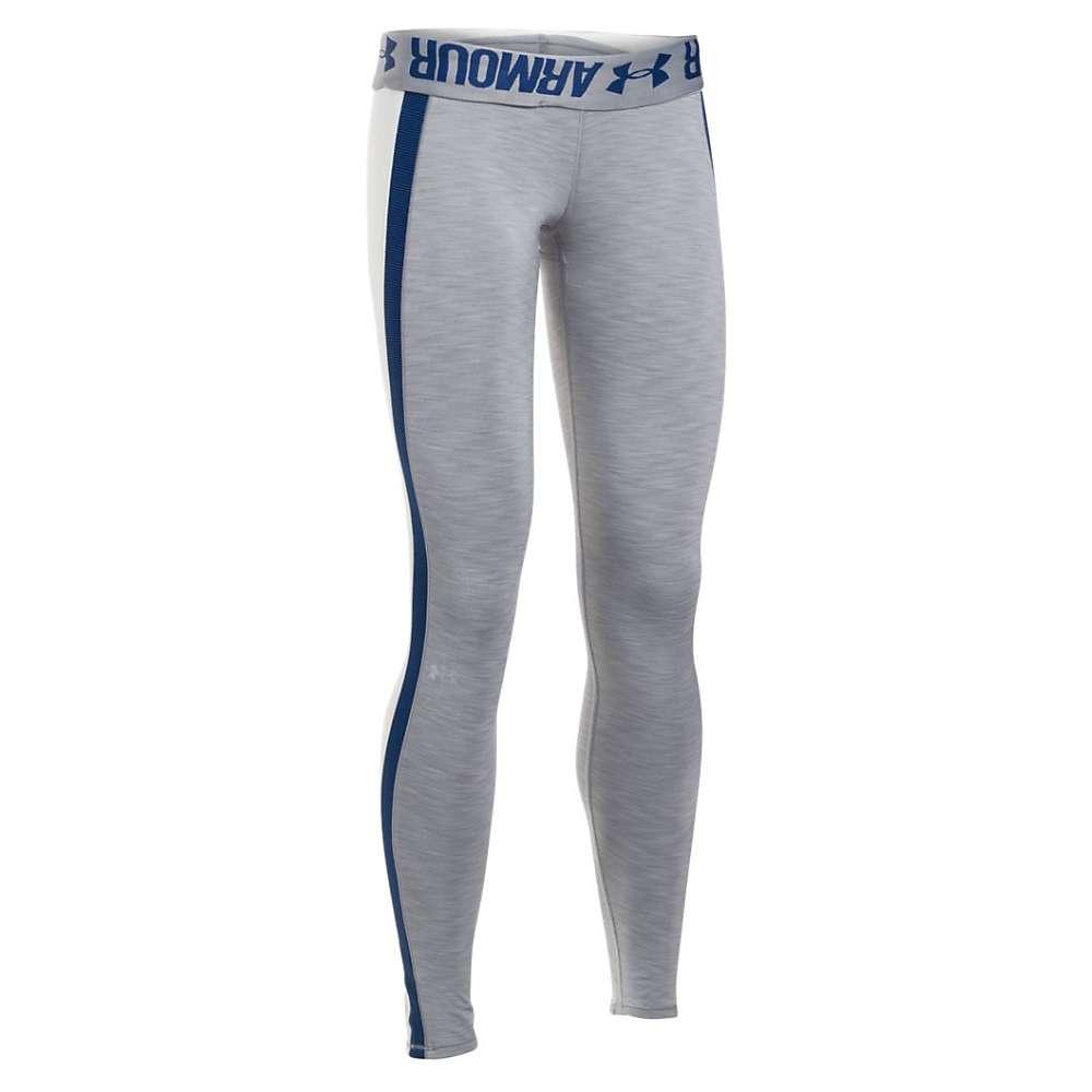 Under Armour Women's UA ColdGear Armour Legging - XXL Short - True Gray Heather / Ivory / Metallic Silver