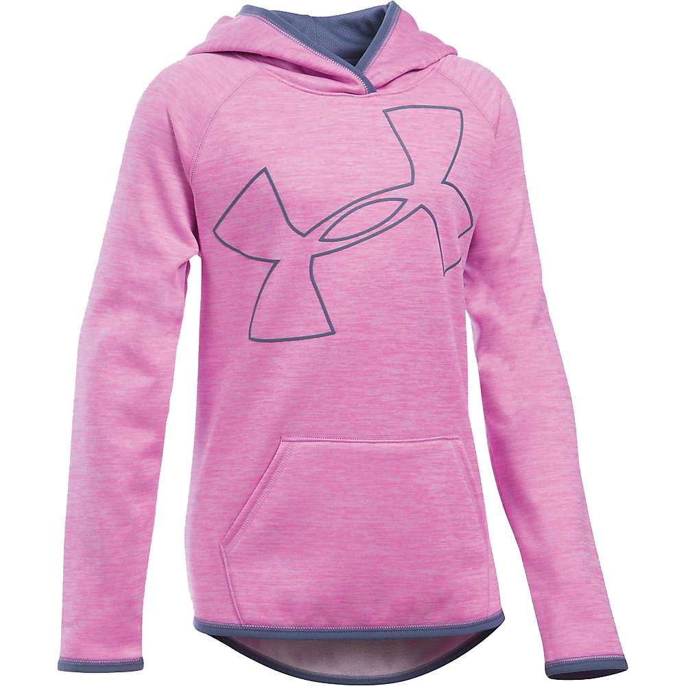 Under Armour Girls' UA Storm Armour Fleece Novelty Big Logo Hoody - XL - Verve Violet / Aurora Purple / Aurora Purple