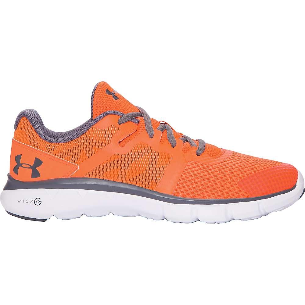 Under Armour Boys' UA BGS Micro G Shift RN Shoe - 6.5 - Blaze Orange / White / Graphite