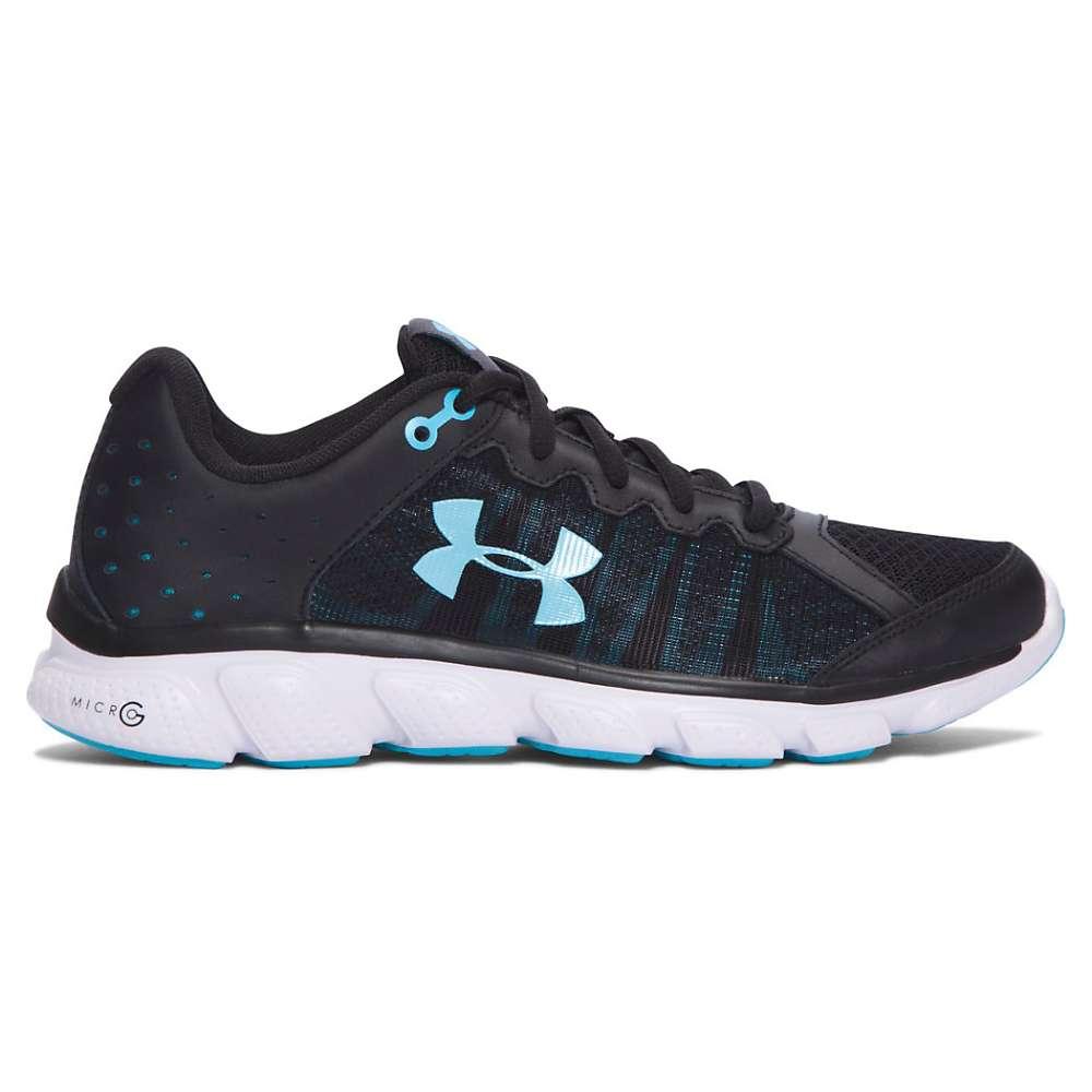 Under Armour Women's UA Micro G Assert 6 Shoe - 10.5 - Black / White / Venetian Blue