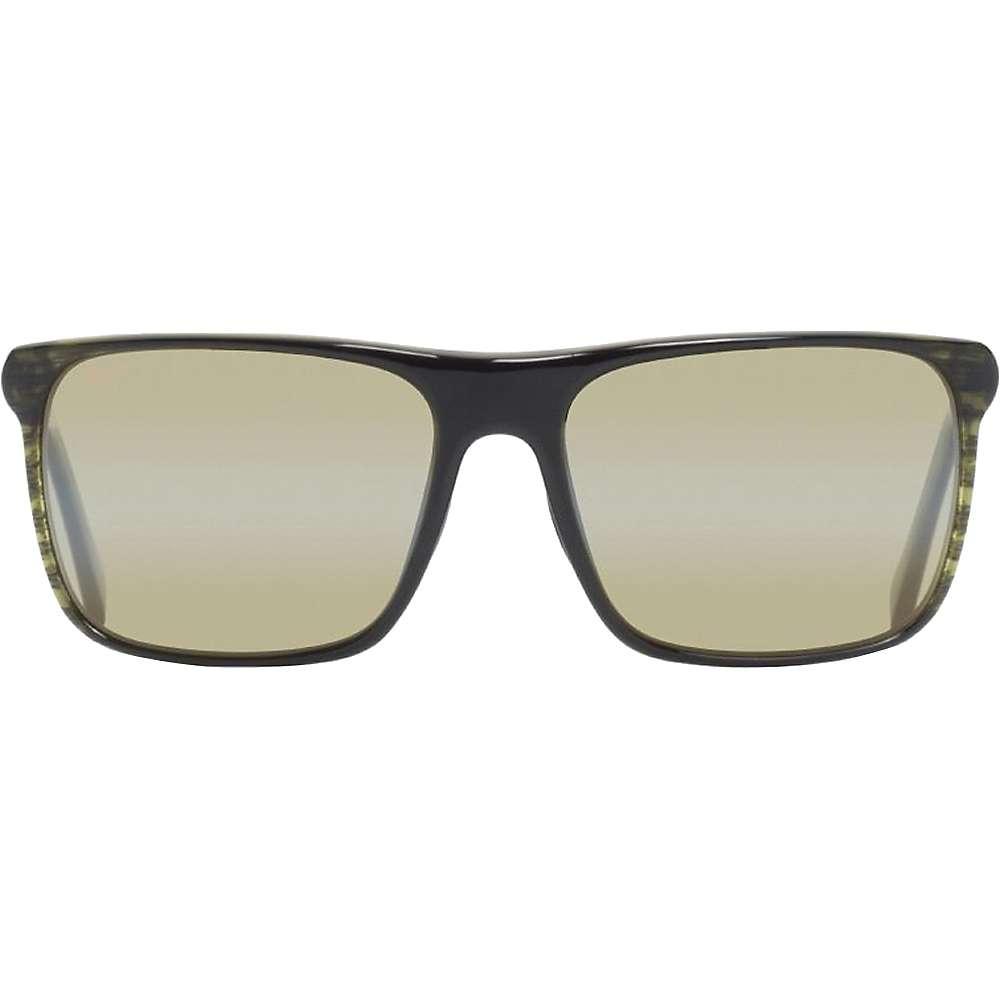 Maui Jim Flat Island Polarized Sunglasses - One Size - Olive Stripe / Maui HT