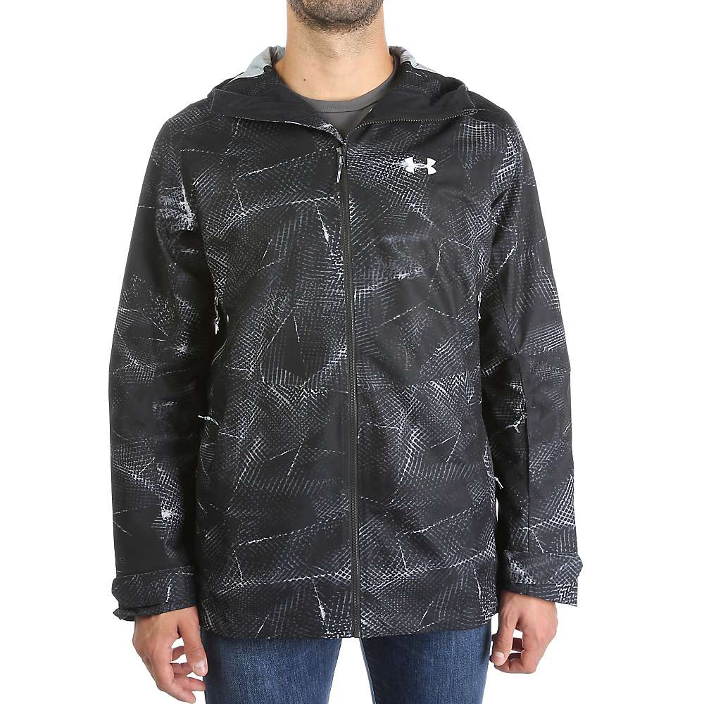 Under Armour Men's UA ColdGear Infrared Haines Shell Jacket - XXL - Black / Overcast Grey / White